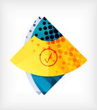 Abstract blank banner made of pieces Royalty Free Stock Photography