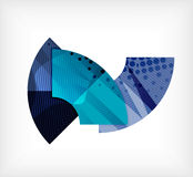 Abstract blank banner made of pieces Stock Images