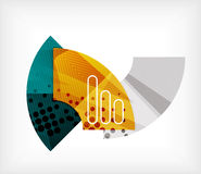 Abstract blank banner made of pieces Stock Photo