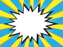 Abstract blank comic book, pop art background stock illustration