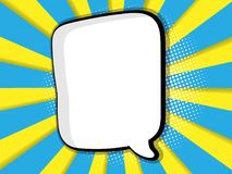 Abstract blank comic book, pop art background royalty free illustration