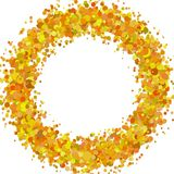 Abstract blank confetti ring background template with sprinkled circles. Vector illustration vector illustration