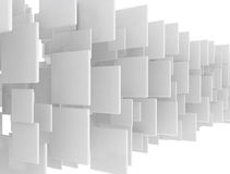 Abstract blank 3d squares. Isolated on white Royalty Free Stock Photos