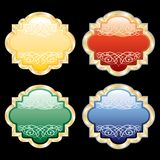 Abstract blank medallions Stock Photography