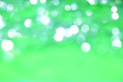 Abstract blank monophonic light green background with bokeh effe Stock Photo