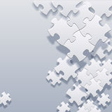 Abstract blank puzzles concept vector Stock Images