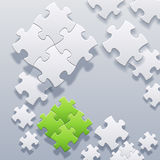 Abstract blank puzzles concept vector Royalty Free Stock Photos