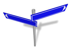 Abstract blank signpost Royalty Free Stock Photography