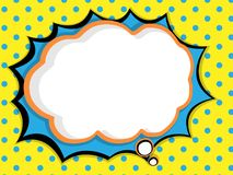 abstract blank speech bubble comic book, pop art style background stock illustration
