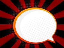 Abstract blank speech bubble comic book, pop art style backgroun. D vector illustration stock illustration