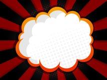 Abstract blank speech bubble comic book, pop art style backgroun Stock Photo