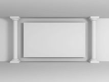 Abstract Blank Wall Banner With Columns Royalty Free Stock Photos