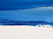 Abstract Blauw Art Painting Background stock foto's