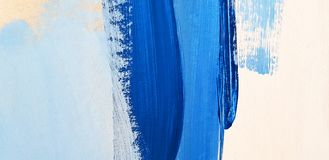 Abstract Blauw Art Painting Background stock afbeelding