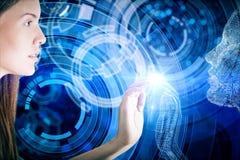 Abstract blauw beeld Stock Afbeelding
