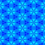 Abstract Blauw BloemenPatroon Naadloze vector Royalty-vrije Stock Foto