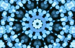 Abstract blauw bokeh licht patroon Royalty-vrije Stock Foto's