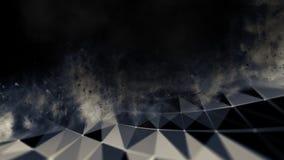 Abstract blauw 3d Verlicht vervormd Mesh Sphere Het teken van het neon Futuristische Technologie HUD Element Elegante samenvattin Stock Afbeelding