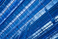 Abstract blauw diagonaal plafond Royalty-vrije Stock Fotografie