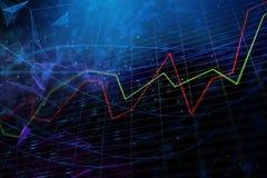 Abstract blauw forex behang stock illustratie