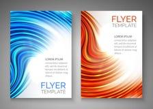 Abstract blauw golfontwerp voor vlieger, dekking, affiche, banner Kleurrijk abstract malplaatje Royalty-vrije Stock Afbeeldingen