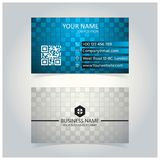 Abstract Blauw & Gray Glowing Business Card-malplaatje vector illustratie