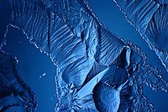 Abstract blauw koud ijs als achtergrond Stock Afbeelding