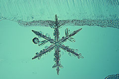 Abstract blauw koud ijs als achtergrond Royalty-vrije Stock Foto's
