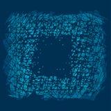 Abstract blauw krassen vierkant kader Royalty-vrije Illustratie