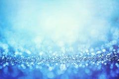 Abstract blauw licht voor vakantieachtergrond Stock Fotografie