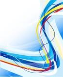 Abstract blauw lijnenmalplaatje Stock Fotografie
