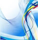 Abstract blauw lijnenmalplaatje Royalty-vrije Stock Afbeelding