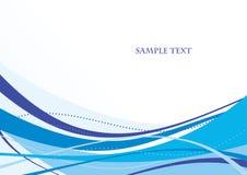 Abstract blauw malplaatje Stock Afbeelding