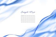 Abstract blauw malplaatje Stock Foto