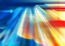 Abstract blauw met geel Royalty-vrije Illustratie