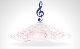 Abstract blauw muzikaal woord in cercal royalty-vrije illustratie