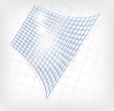 Abstract blauw net stock illustratie
