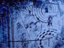 Abstract blauw ontwerp stock illustratie