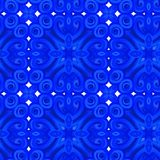Abstract blauw patroon Royalty-vrije Stock Foto