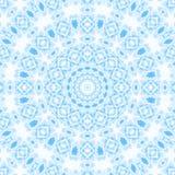 Abstract blauw patroon op wit Stock Afbeeldingen