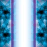 Abstract blauw - purpere achtergrond met bloemen Royalty-vrije Stock Afbeeldingen