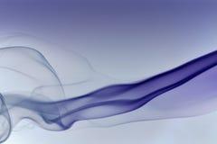 Abstract blauw rookdetail Royalty-vrije Stock Afbeeldingen