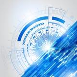 Abstract blauw technologie nieuw toekomstig concept achtergrond-4 Royalty-vrije Stock Fotografie