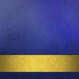 Abstract blauw van achtergrond achtergrondluxe rijk uitstekend grunge textuurontwerp met elegante antieke abstracte gouden lintstr Royalty-vrije Stock Afbeelding