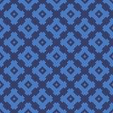 Abstract blauw vector Etnisch geometrisch naadloos patroon vector illustratie