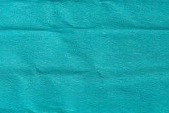 Abstract blauw verfrommeld gevouwen textuurdocument voor achtergrond Royalty-vrije Stock Afbeelding