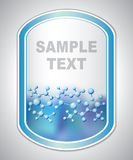 Abstract blauw-violet laboratoriumetiket Royalty-vrije Stock Afbeelding