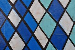 Abstract blauw vormenpatroon Royalty-vrije Stock Foto