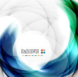 Abstract blauw wervelingsontwerp royalty-vrije illustratie