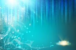 Abstract blauw wetenschapsontwerp Stock Foto's